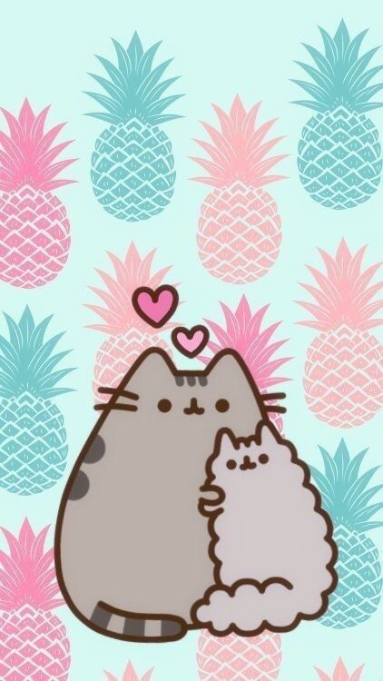 Pusheen Stormy Summer Pineapple And Cute Wallpaper Pusheen Cute Pusheen Stormy Pusheen Cat