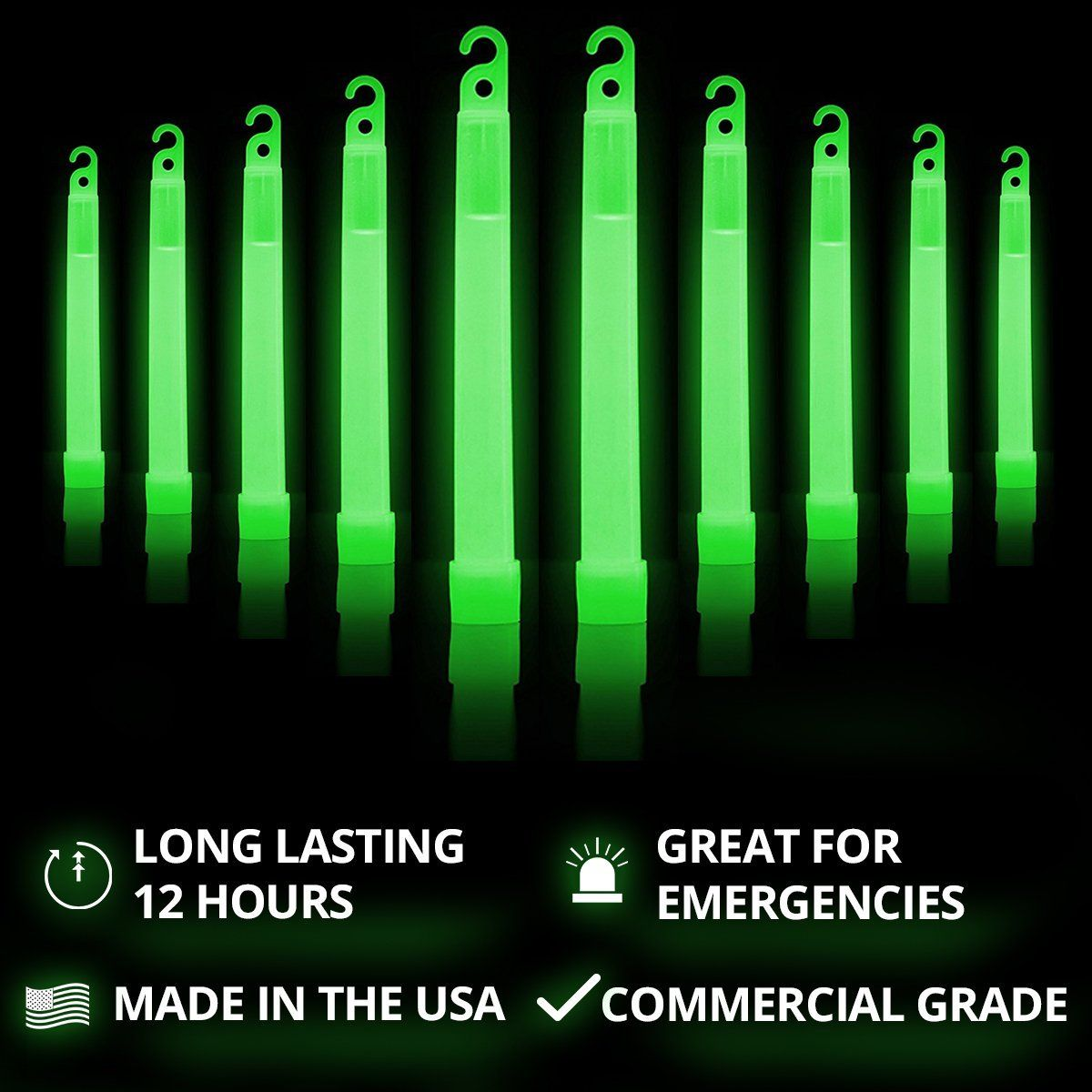 Amazon Com Cyalume Green Glow Sticks 12 Hours Of Premium Bright Light 6 Snaplight Light Sticks For A Variety Glow Sticks Light Decorations Chemical Light