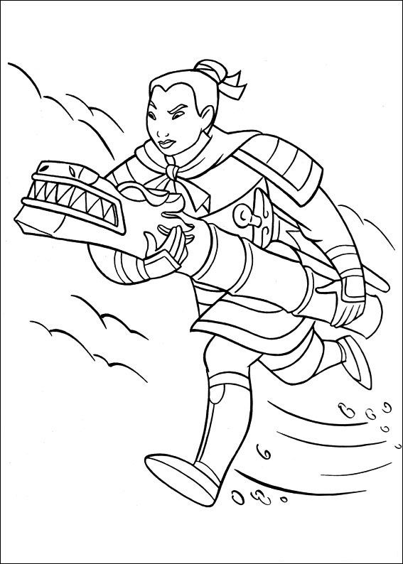mulan coloring pages Google Search Colouring pages Pinterest