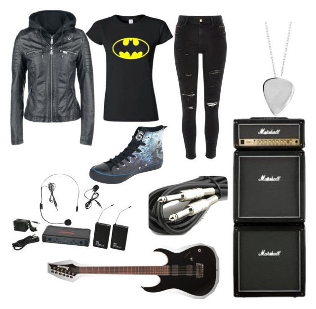 """""""Guitarist (Rhythm) Outfit"""" by caroline3214 on Polyvore featuring River Island, Haze, Galaxy Audio, 3M and Edge Only"""