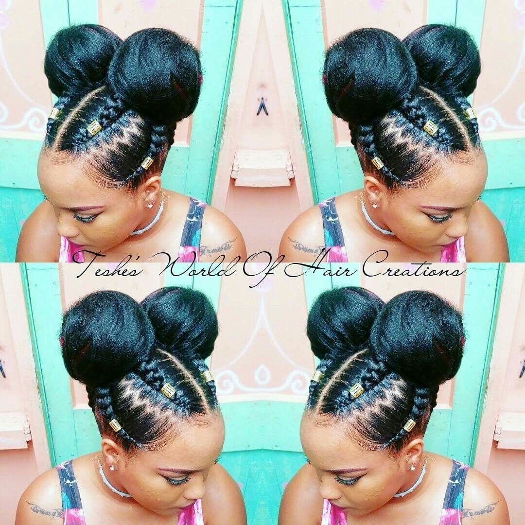 Braids Buns Natural Hair Styles Braided Hairstyles Long Hair Styles