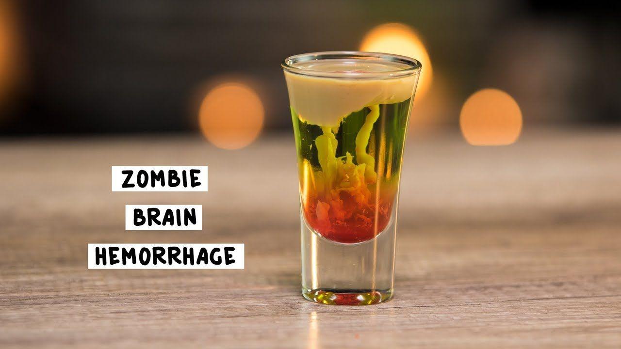 Zombie Brain Hemorrhage Tipsy Bartender Recipe Halloween Dessert Shooters Shot Recipes Dessert Shooters