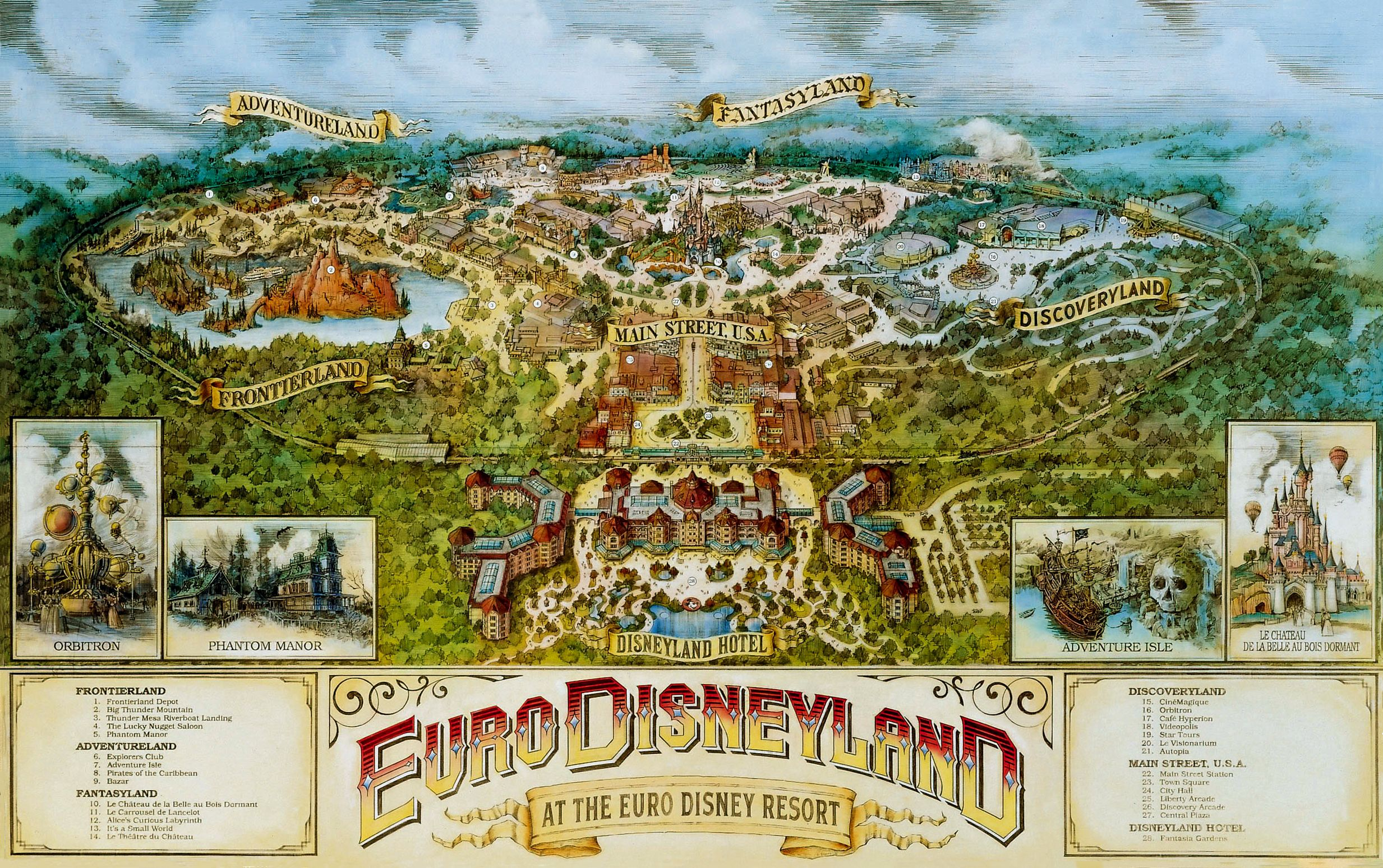 Early Concept Design Eurodisneyland Disneyland