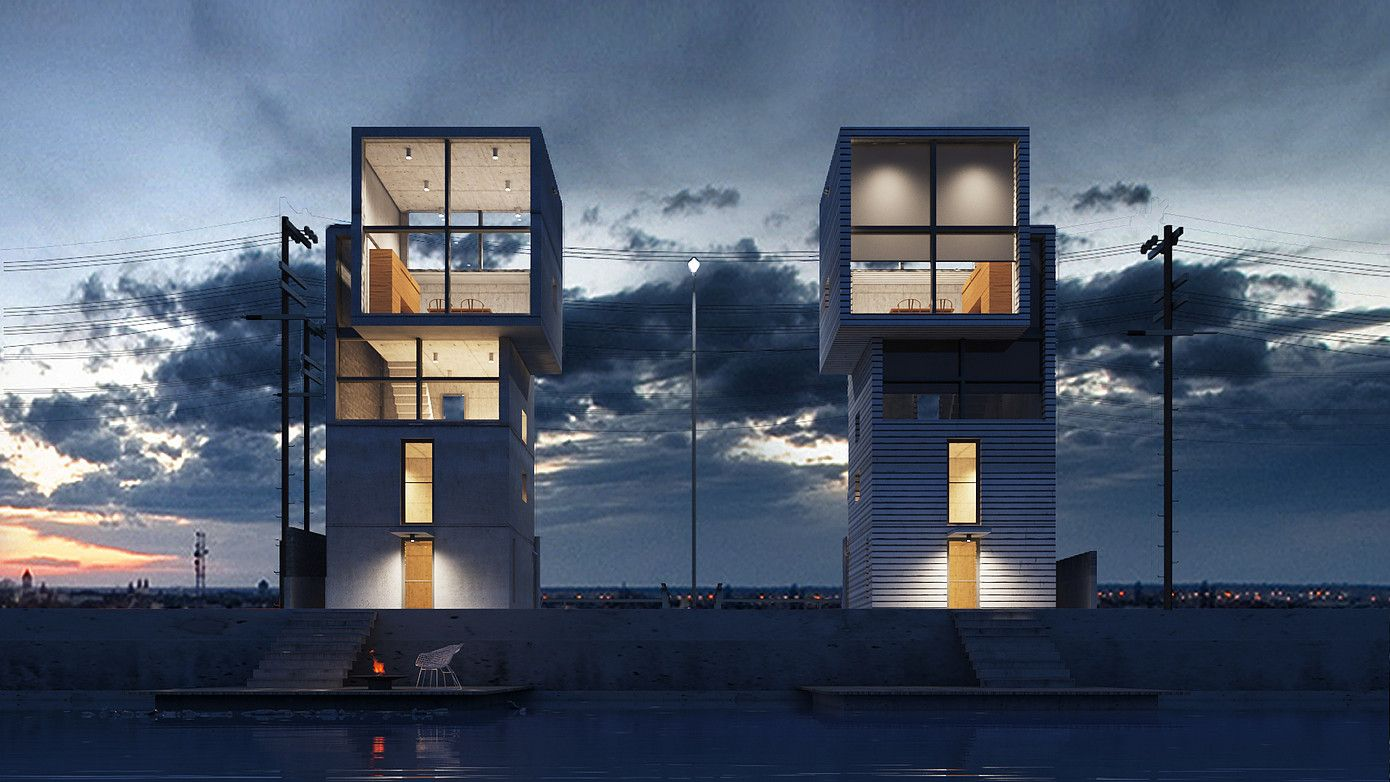 3ds max vray render architecture projects completed