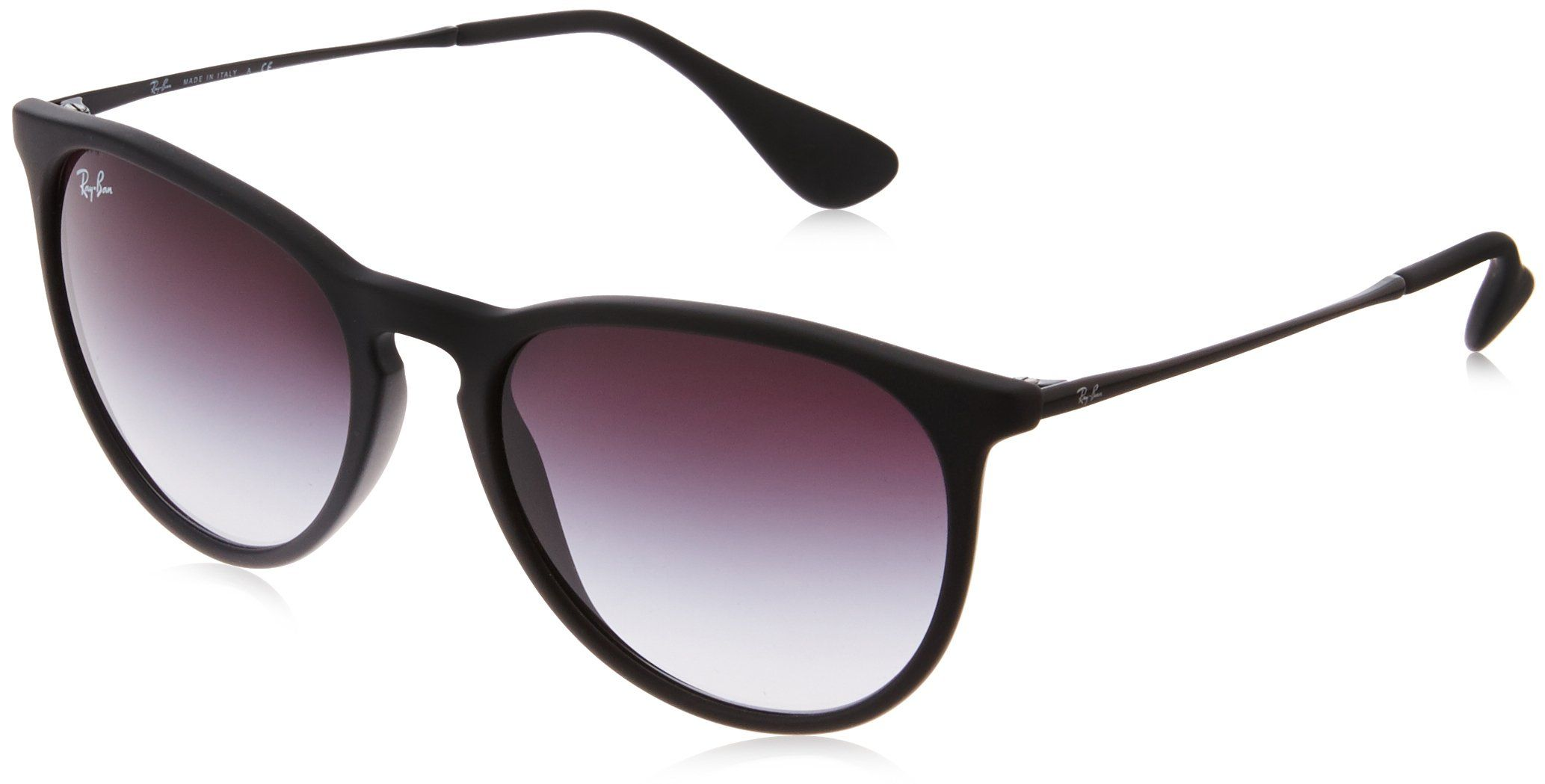 Ray-Ban Women's Erika Round Sunglasses,Non-Polarized,Black ...