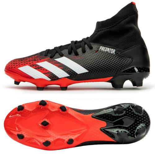 Adidas Predator 20 3 Fg Football Shoes Soccer Cleats Red Black Ee9555 In 2020 Football Shoes Soccer Cleats Adidas Predator