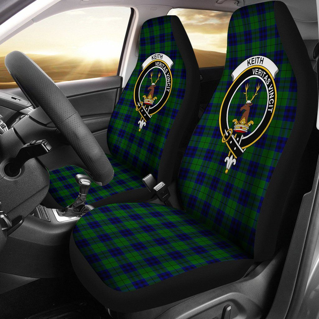Keith Tartan Car Seat Cover Clan Badge K7 Car seats