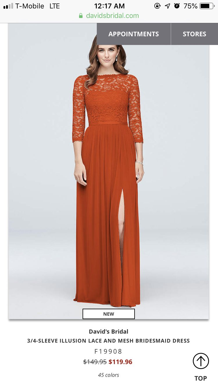 Burnt Orange Bridesmaid Long Sleeve Bridesmaid Dress Long Orange Bridesmaid Dresses Orange Bridesmaid Dresses [ 1334 x 750 Pixel ]