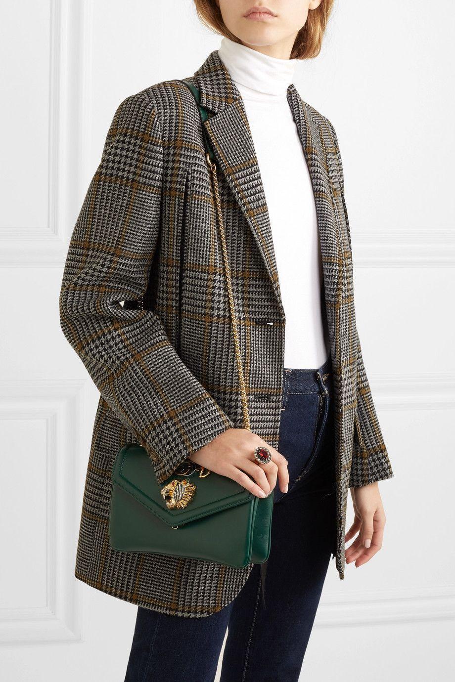 a702ffbfa6f4 Gucci   Rajah small embellished leather shoulder bag   NET-A-PORTER.COM