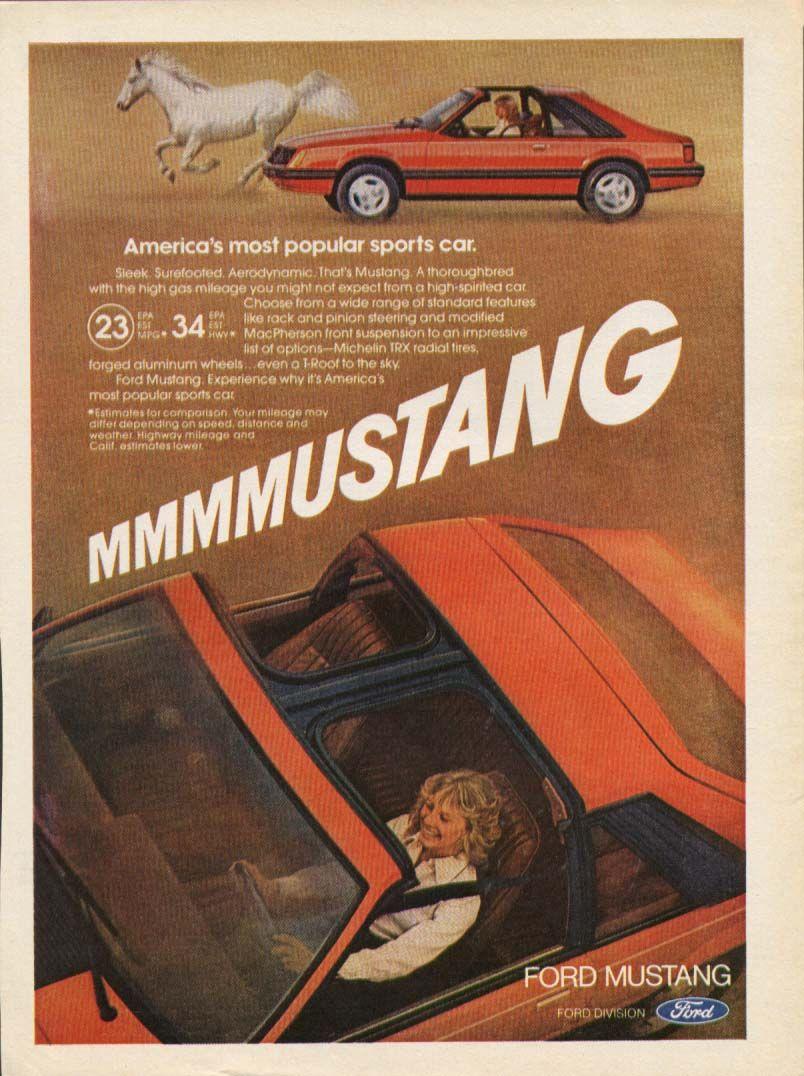 Americau0027s Most Popular Sports Car MMM Mustang Ad 1981    Fun Typography!