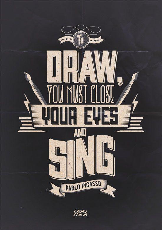 Design inspiration Pinterest typography design
