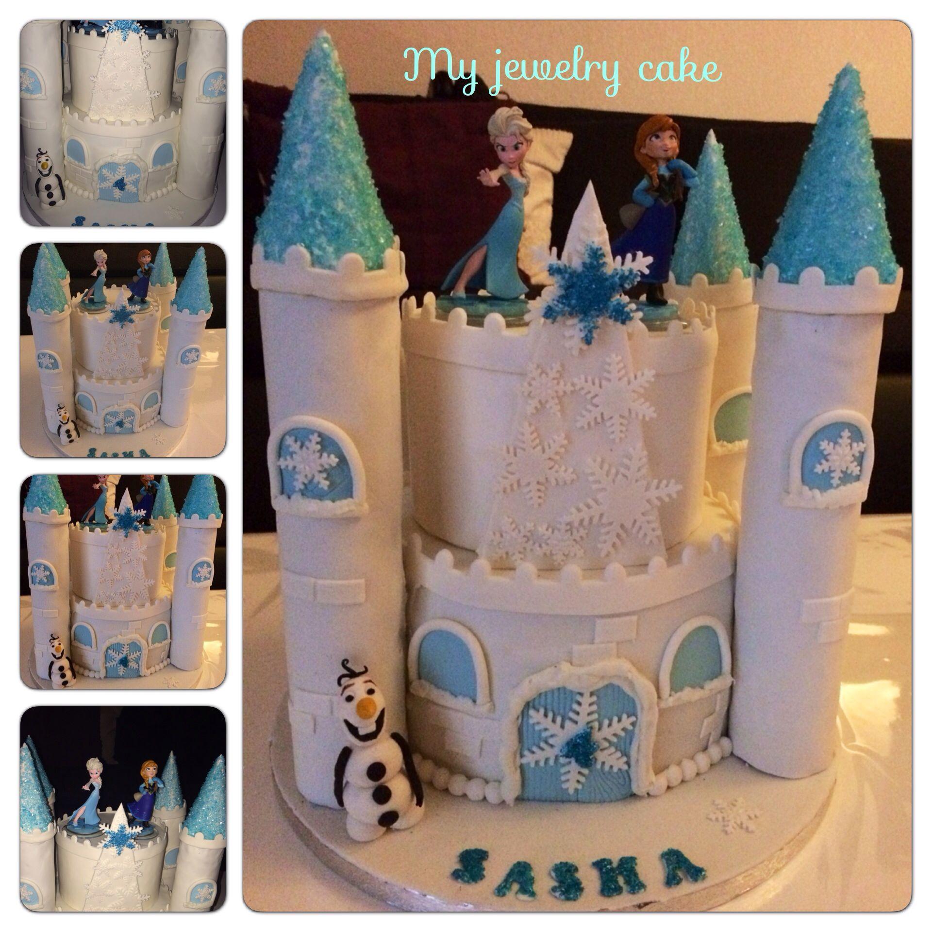 Chateau reine des neiges gateau petite fille cake design - Chateau de la reine des neige ...