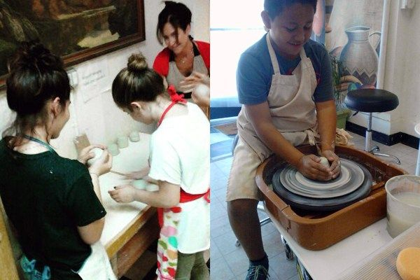 Students in a pottery class; Image courtesy of Destiny Norman