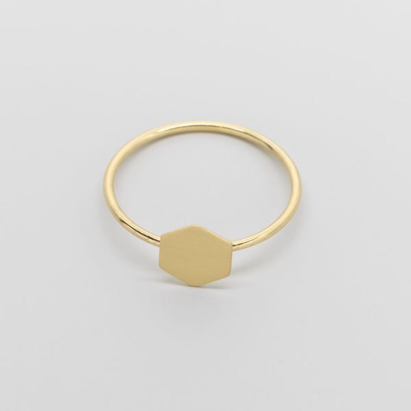 Photo of fejn jewelry Ring 'Satin Hexagon'