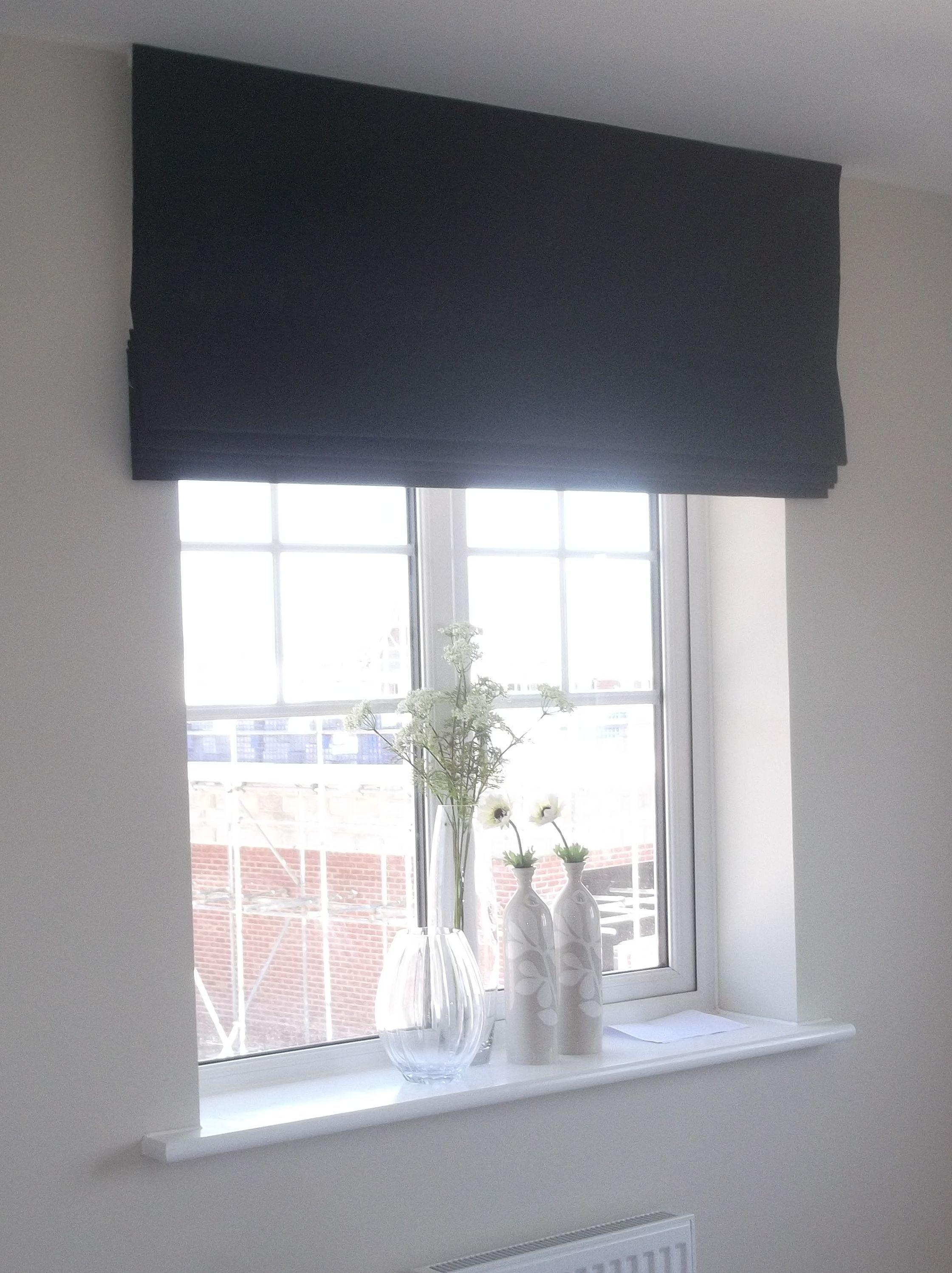 Kitchen window roman blinds  roman blind blindsandcurtainshardware bambooblindsandcurtains