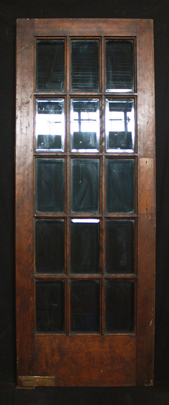 30 X 80 Antique Interior French Swinging Birch Door 15 Beveled