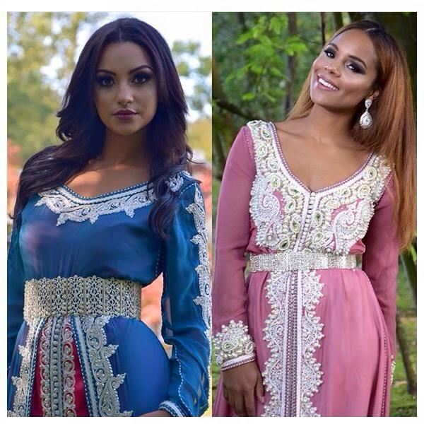 Deux magnifiques robes haut de gamme takchita de luxe for Robes de mariage haut de gamme
