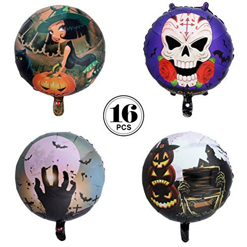 Begleri Halloween Decorations Balloons Foil Skull Pumpkin Spider - skull halloween decorations