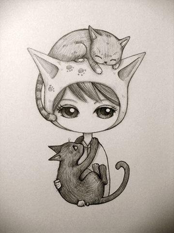 dibujo gatos pinterest zeichnungen zeichnen und malen. Black Bedroom Furniture Sets. Home Design Ideas