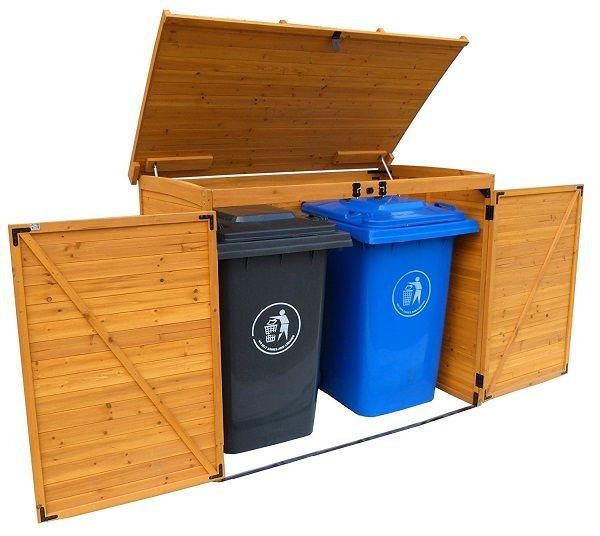 10 Great Ideas For Secure Garbage Can Storage That S Also Neat Tidy Are You Sick And Tired Or Looking At Outdoor Storage Sheds Garbage Shed Recycling Storage