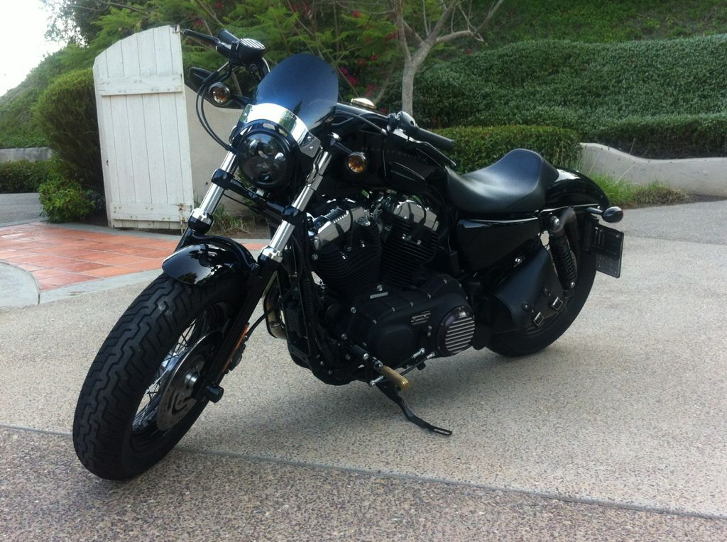 33 Nightster Tank DK 15 Lift Coil Relocate Mid Controls HD Drag Bars