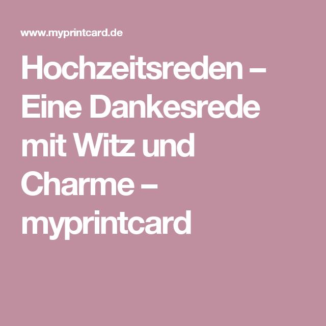 Hochzeitsreden – Eine Dankesrede mit Witz und Charme – myprintcard