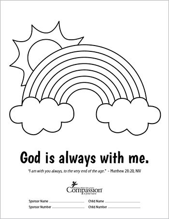 send your sponsored child fun and meaningful coloring sheets this is a great way to - A Child God Coloring Page