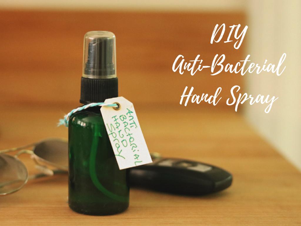 DIY AntiBacterial Hand Spray Natural DIY Remedies