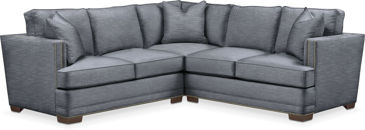 Kroehler Arden Cumulus 2 Piece Small Sectional Sofa With Left Facing Loveseat Dudley Indigo In 2020 2 Piece Sectional Sofa Small Sectional Living Room Sectional