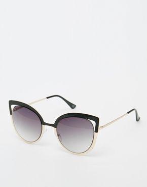 ASOS - Lunettes de soleil yeux de chat avec verres polarisés - Or rose - Doré hZA475bx2