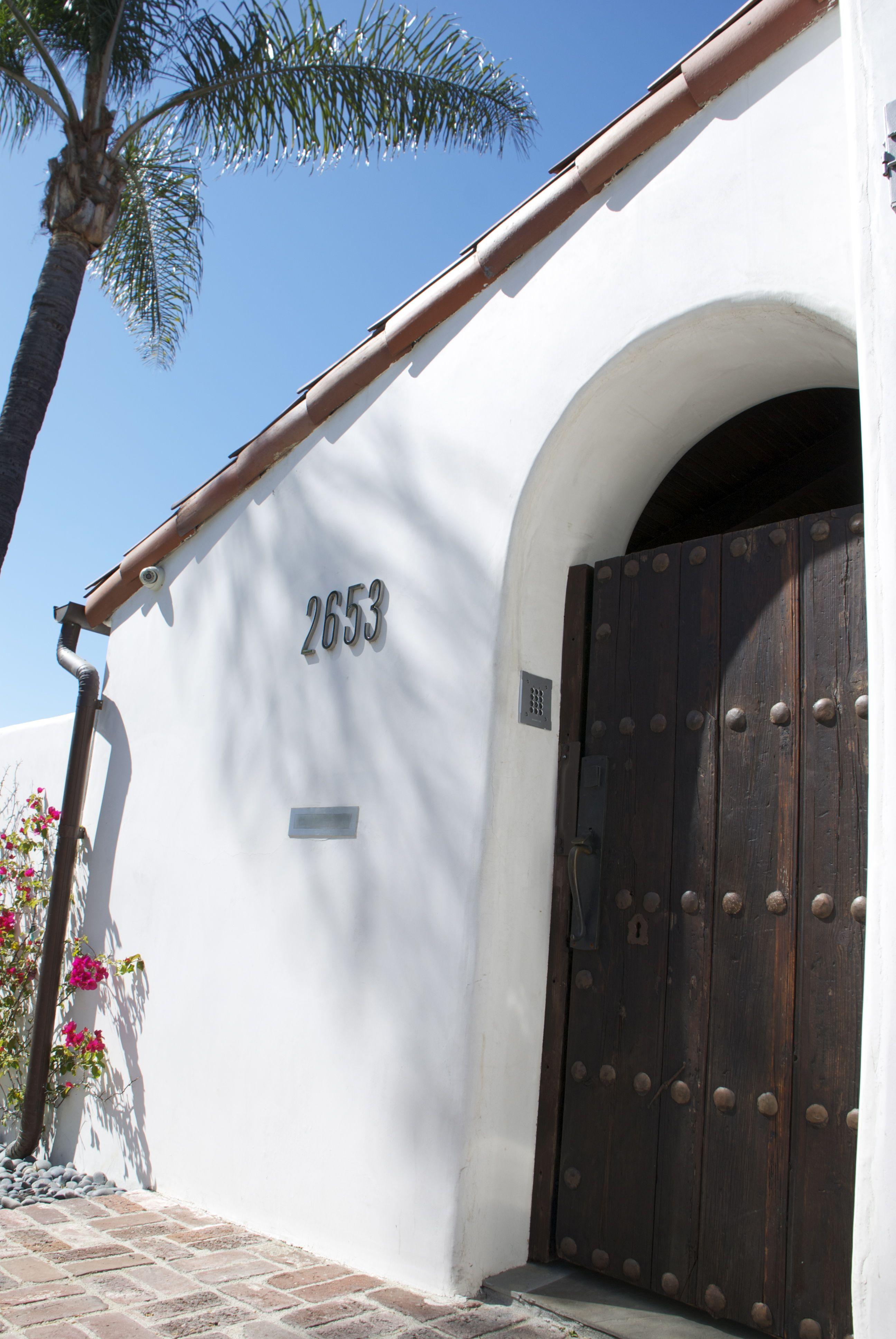 dark stained spanish style gate | Mediterranean Exterior | Pinterest ...