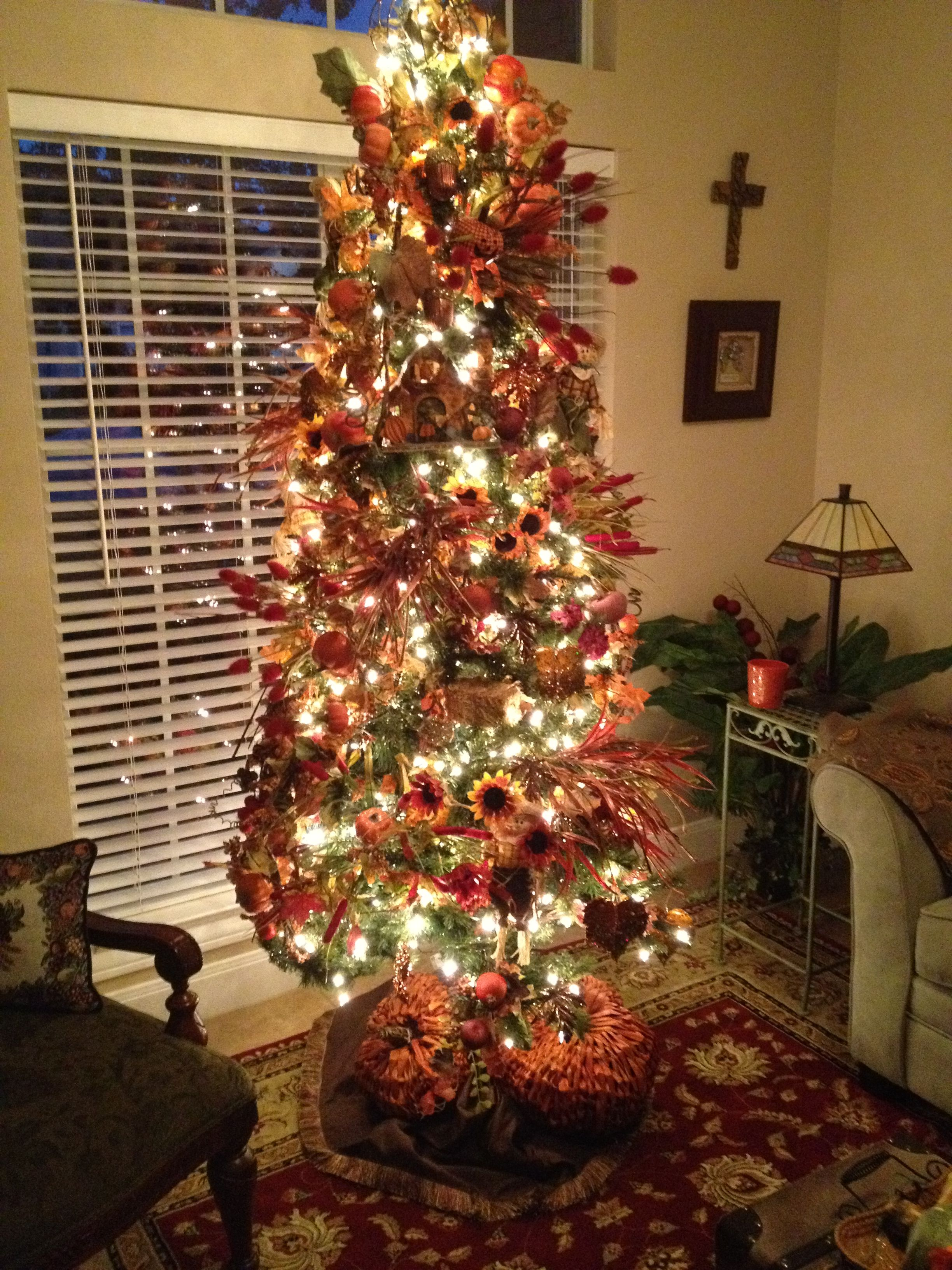 Decorate for Fall with Christmas Tree Fall tree