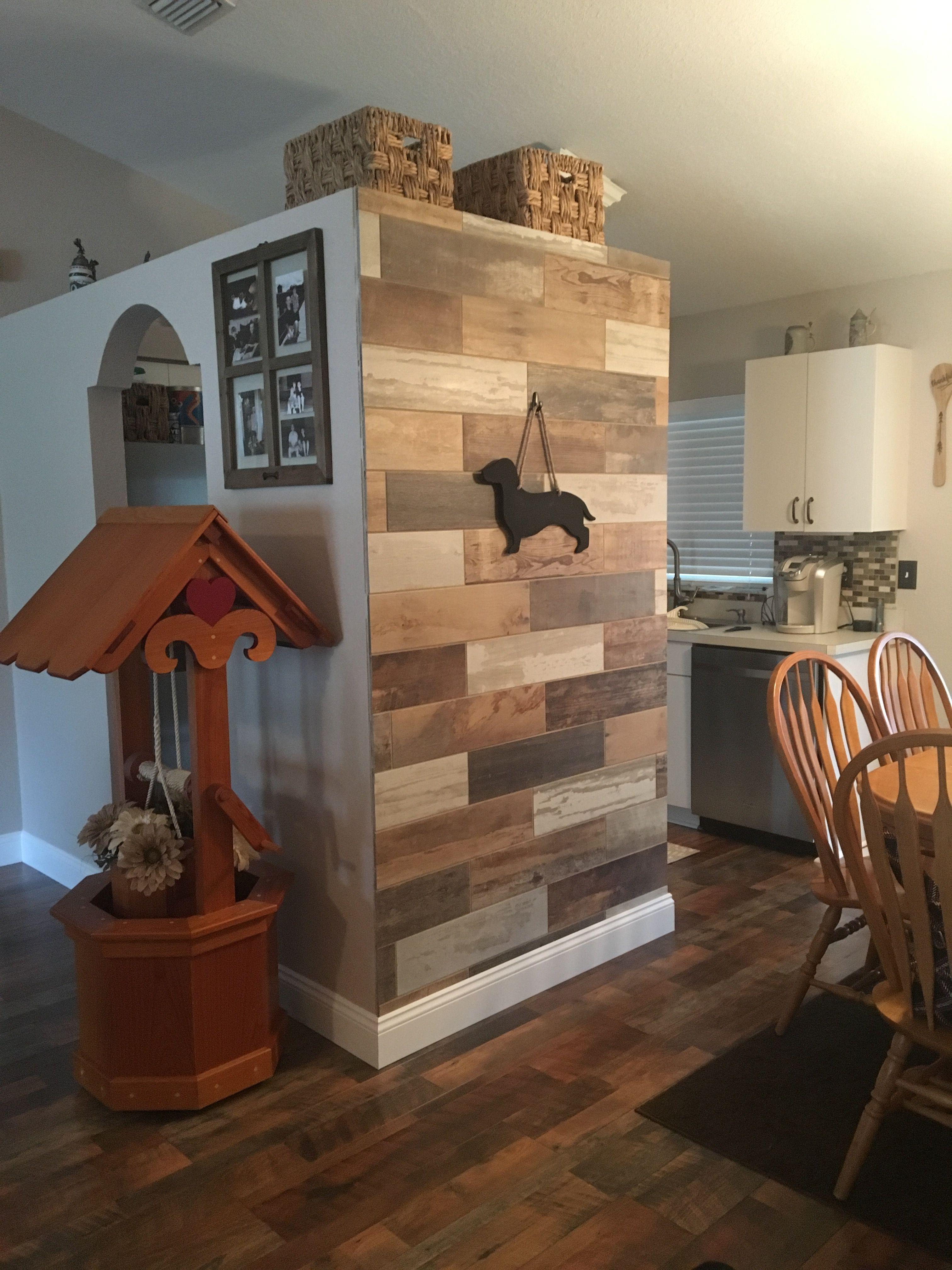 Wood Tile Wall And Pergo Max River Road Oak Flooring