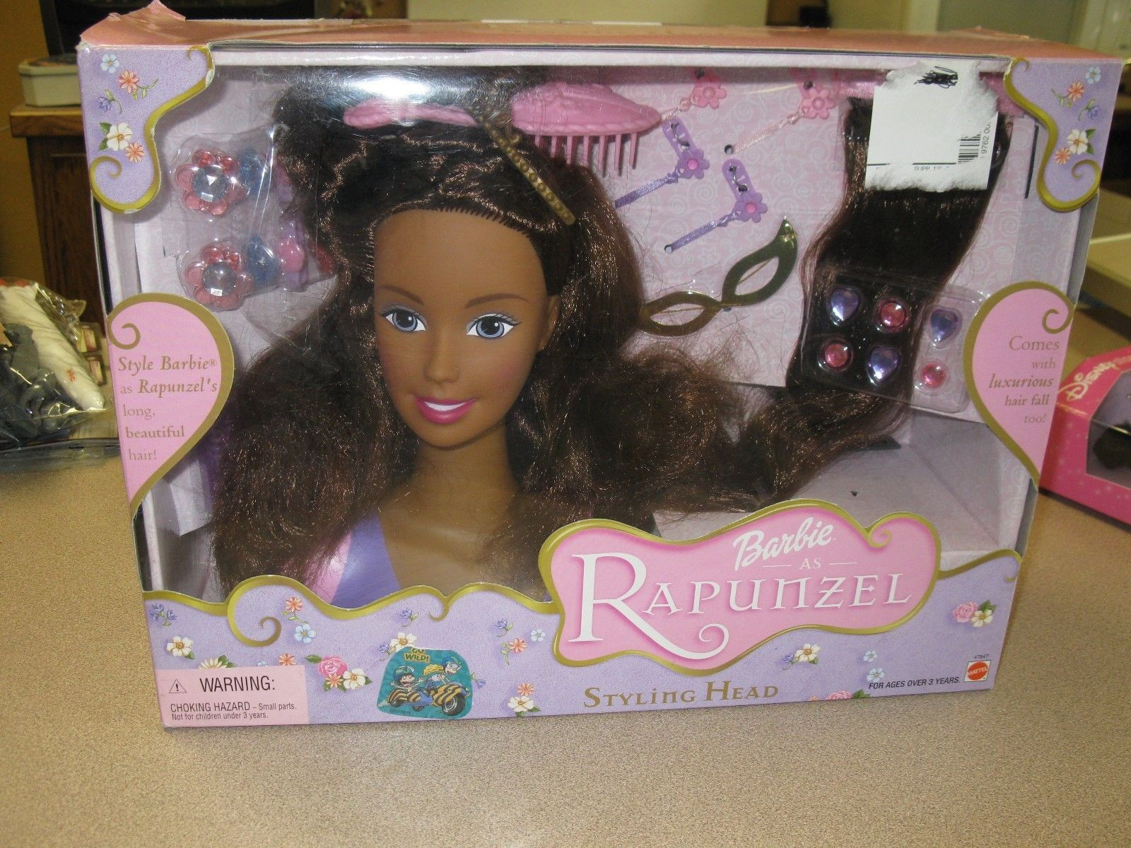 2002 Barbie As Rapunzel Styling Head Aa African American With Accessories Mattel Ebay Barbie Barbie I Doll Head