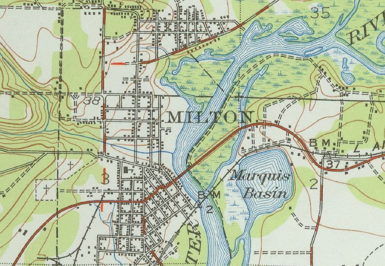 maps of milton, fl | Map of Milton, Florida | Home ideas