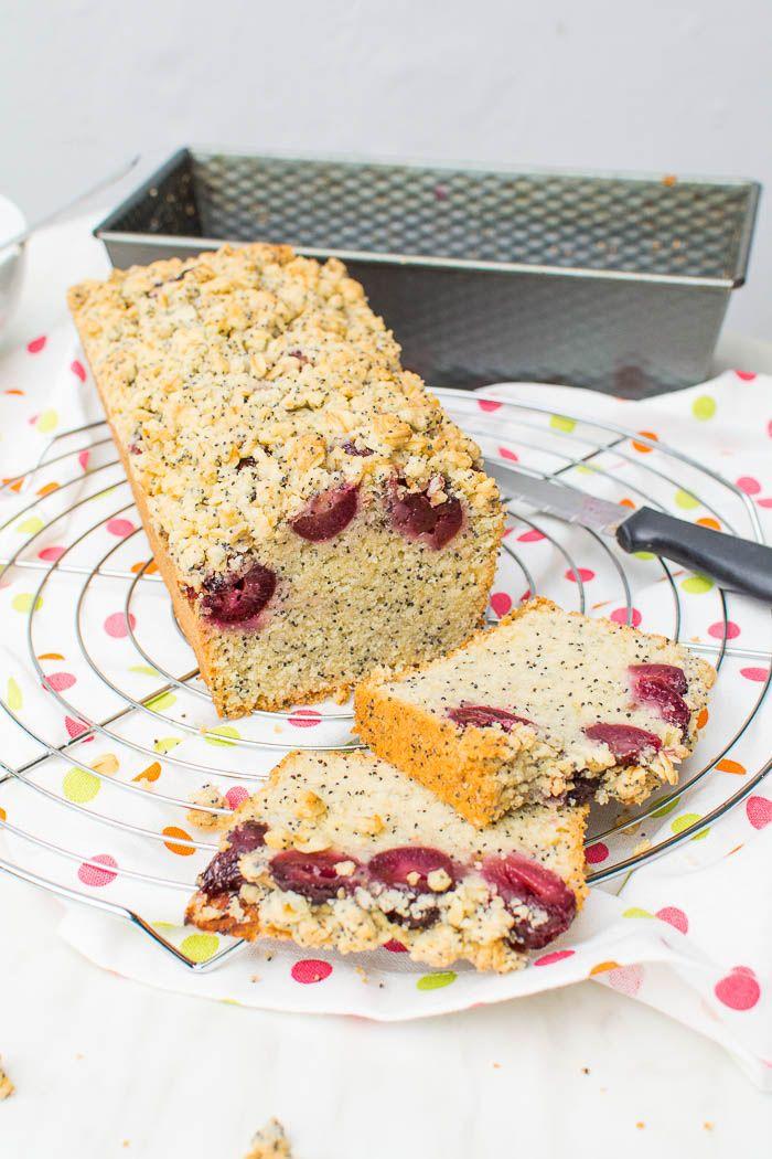 Kirsch Mohn Kuchen Mit Knusper Streuseln Rezept Vegan