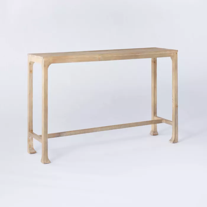 Belmont Shore Curved Foot Console Table Fully Assembled Natural Threshold Designed With Studio Mcgee In 2020 Console Table Entryway Console Table Traditional Console Tables
