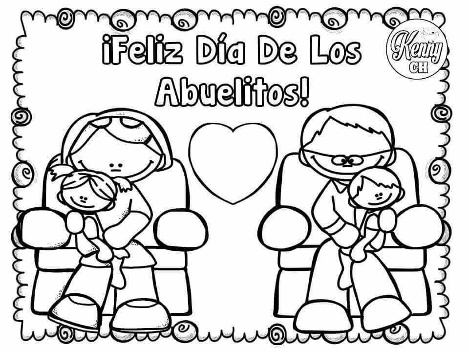Abuelos Abuelos Para Colorear Dia Del Abuelo Feliz Dia Del Abuelo