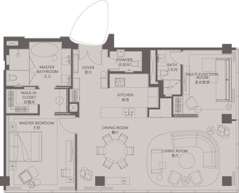 Standard Suites Unit A _ Four Seasons Place Pudong