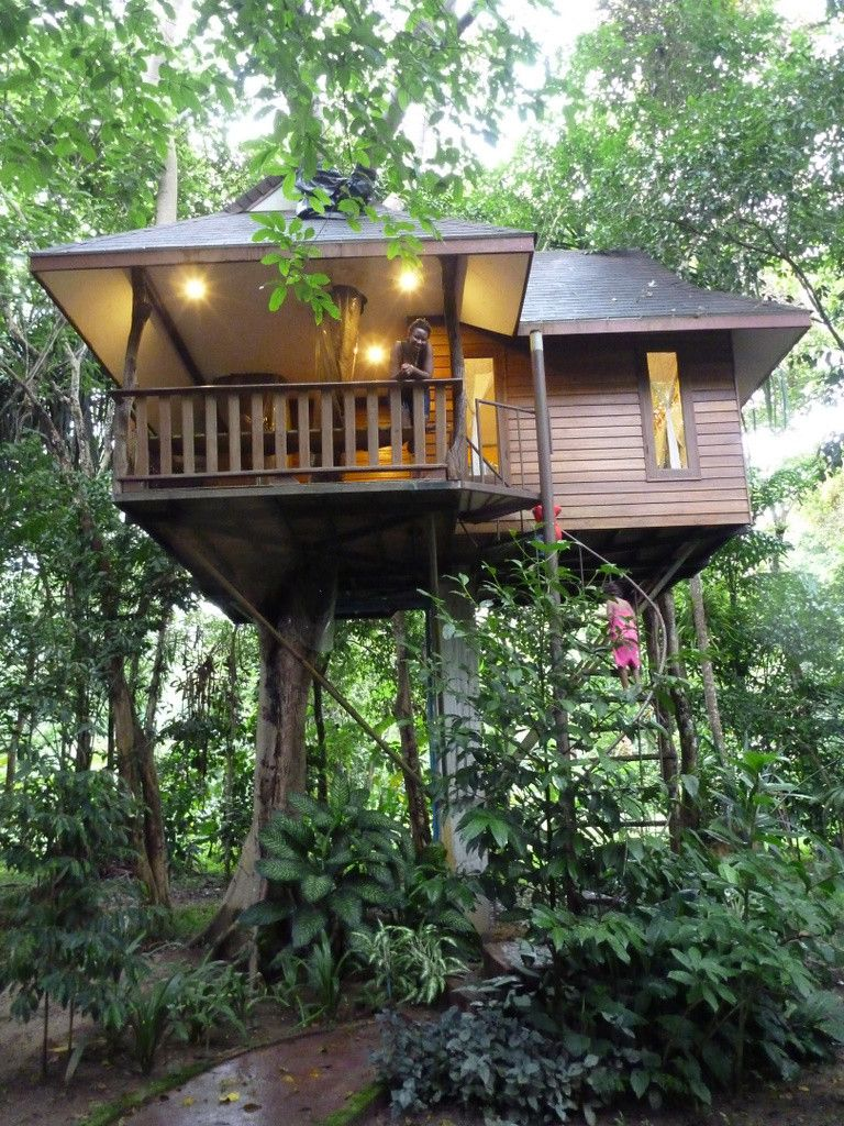 Wanted To Show You This Beautiful Treehouse Cabin In The Woods. Its Hard  For Me To Figure Out Whether Or Not They Used A Spiral Staircase To Get Up  There O ...