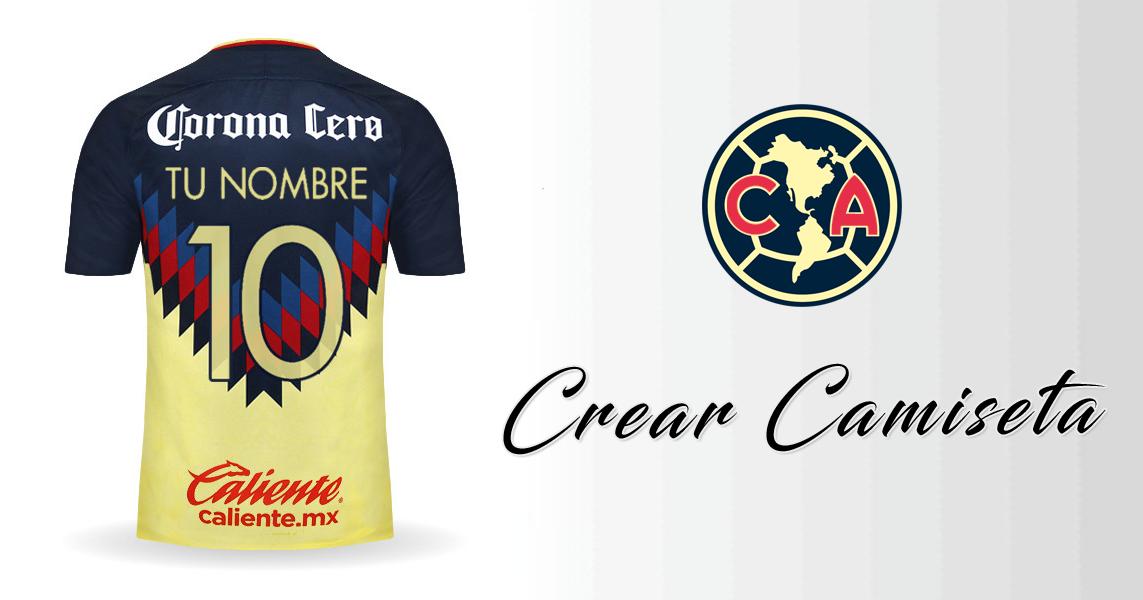 f1a5aaf6d28 Crear Camiseta de Club America 2017/2018 con tu Nombre | futbol ...