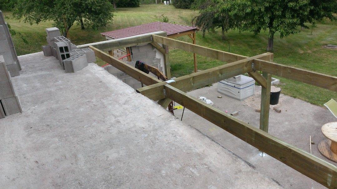 Structure Extension Bois Roanne Balcon