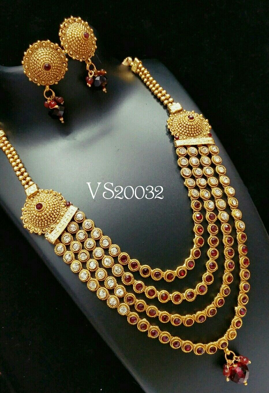 Beautiful designer diamond necklace jhumki earrings long ...