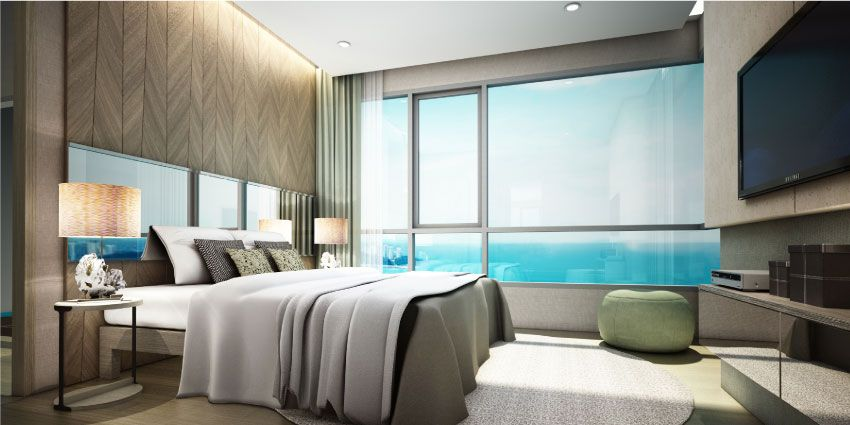 Beachfront condos interiors condo pattaya luxury jomtien for One bedroom condo design