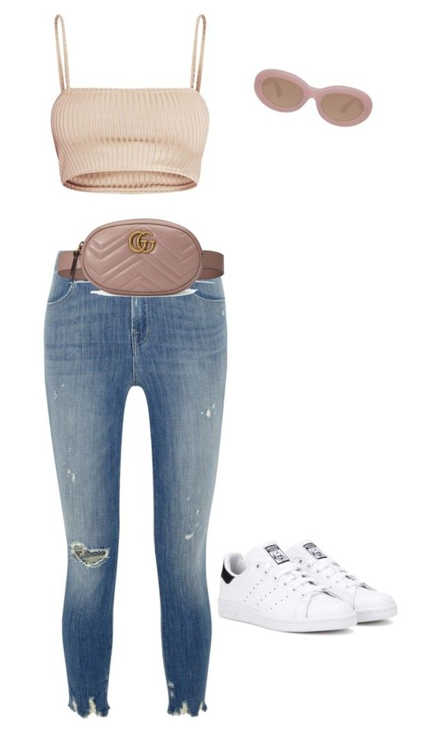 """Untitled #702"" by northwood ❤ liked on Polyvore featuring J Brand, Dries Van Noten, Gucci and adidas Originals"