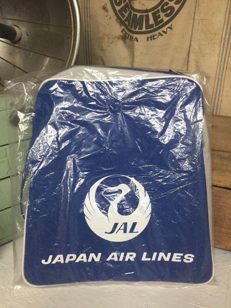 Vintage Japan Air Lines Airline Travel Flight Shoulder Bag