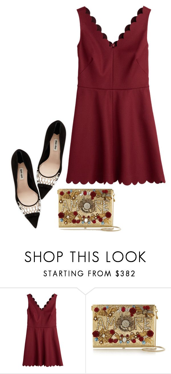 """""""Untitled #554"""" by mojosoignee ❤ liked on Polyvore featuring moda, RED Valentino, Dolce&Gabbana y Miu Miu"""