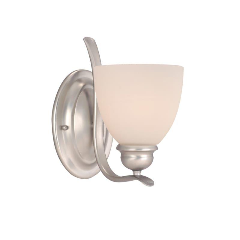 Photo of Vaxcel Lighting AL-VLU001 Avalon 1 Light Bathroom Sconce – 7.75 Inches Wide Brushed Nickel Indoor Lighting Bathroom Fixtures Bathroom Sconce