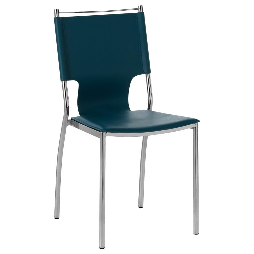 Teal Faux Leather Dining Chair This Could Be A Posible