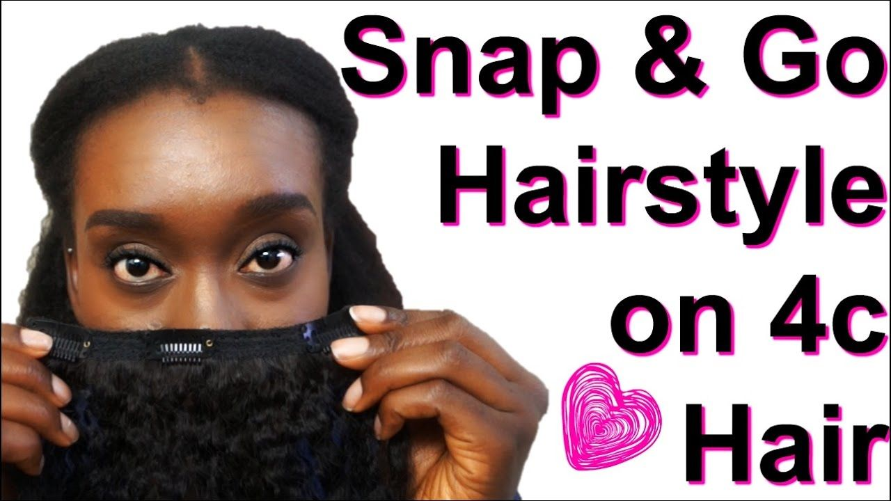A 10 minute clip go hairstyle on 4c natural hairgrwm